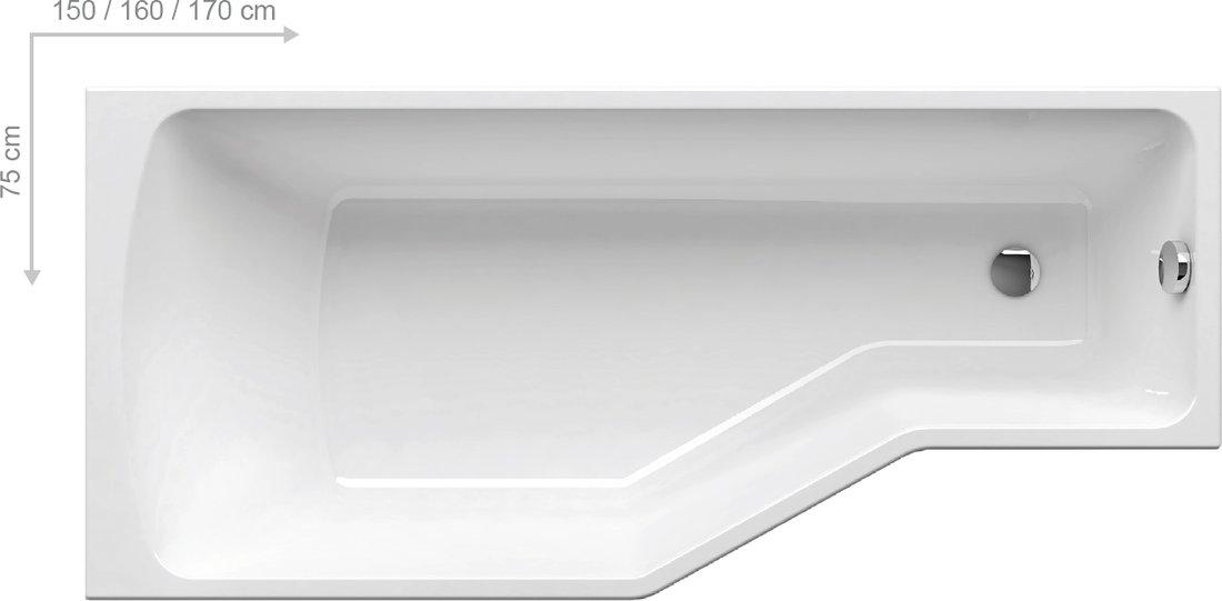Badewanne behappy ravak gesellschaft f r sanit rprodukte mbh for Baignoire 150x75