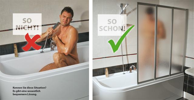 Bequemes Duschen in der Badewanne - RAVAK GESELLSCHAFT für ... | {Duschabtrennung badewanne faltbar 92}